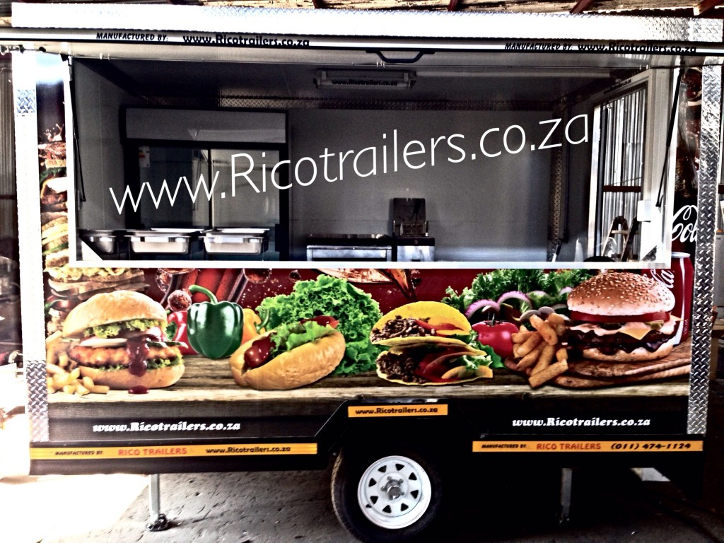 Branded Rico Elite Mobile Kitchen Trailer